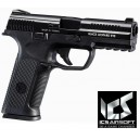 PISTOLA GAS SCARRELLANTE ALPHA BLACK  ICS